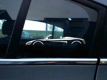 2X Car silhouette stickers - for Audi R8 spyder roadster 1st gen | supercar